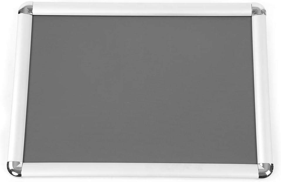 silberner Poster-St/änder Men/ü-Bodenst/änder gerahmt Display Halter rounded corner Pinnwand A3 Hoch- und Querformat A4//A3 Verstellbarer Edelstahl Stand-Werbeschilder-St/änder