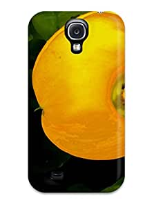 Premium Case With Scratch-resistant/ Yellow Flowers Case Cover For Galaxy S4 7852285K37704379