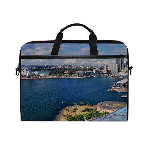 - Rh Studio Laptop Bag Australia Sydney Beach Palm Trees Laptop Shoulder Messenger Bag Case Sleeve for 14 Inch to 15.6 Inch with Adjustable Notebook Shoulder Strap