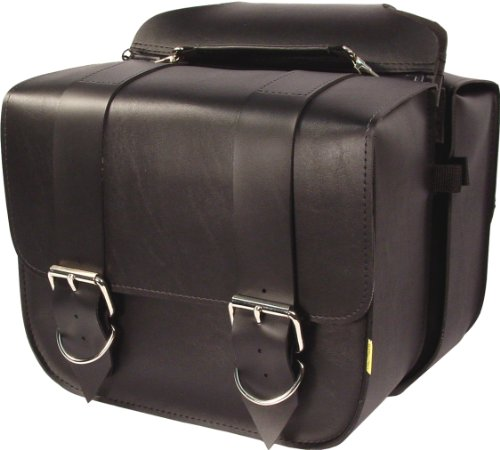 Dowco Willie & Max 58311-00 Standard Series: Synthetic Leather Touring Motorcycle Saddlebag Set, Black, Universal Fit, 16.5 Liter Each/33 Liter Total Capacity