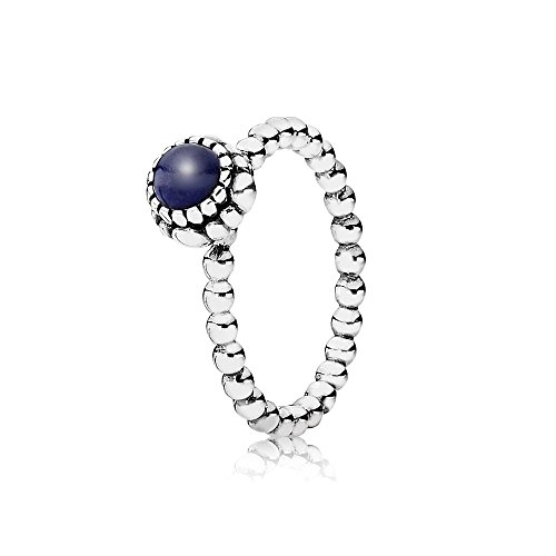 Pandora Ring Birthday Blooms September, Lapis Lazuli, Siz...