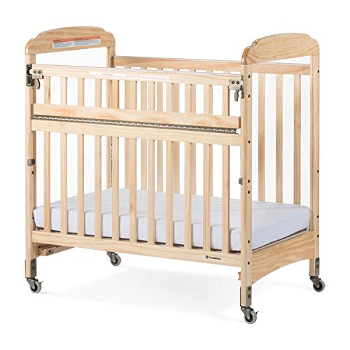 Foundations Next Gen Serenity SafeReach Wood Compact Crib - Clearview, Natural Finish ()