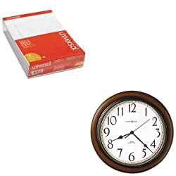 KITMIL625417UNV20630 - Value Kit - Howard Miller Talon Wall Clock (MIL625417) and Universal Perforated Edge Writing Pad (UNV20630)
