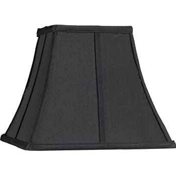 Amazon.com: Royal Designs Fancy Square Bell Lamp Shade, Black, 5 x ...