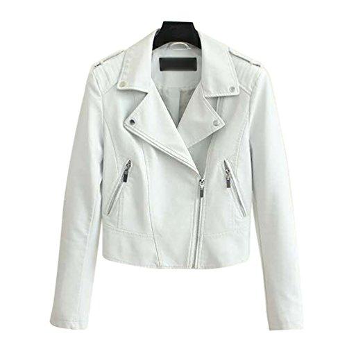 Cazadora Corto Chaqueta Abrigos Cremallera Slim Fit Jackets Blanco Invierno Baymate Mujer EHqxB