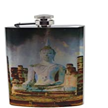 Budda of Thailand Painting - Stainless Steel Liquor Flask