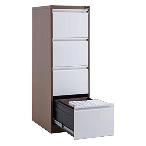 FLYHIGH Lateral Drawer Filing Cabinet 4 Drawers in Double Color