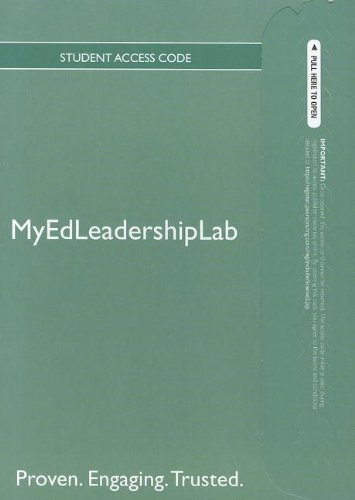 NEW MyEdLeadershipLab with Pearson eText -- Standalone Access Card-- for Financing Education in a Climate of Change