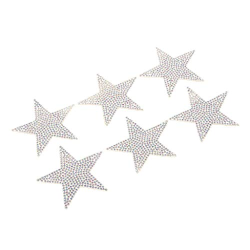 (6Pcs Star Embroidery Sew Iron On Patch Badge Clothes Applique Bag Fabric 6cm)