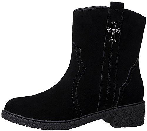 Laruise Women's Leather Boot Black
