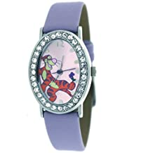 Disney Fancy Ladies Tiger Watch with Stones with Lavender Band MU2200