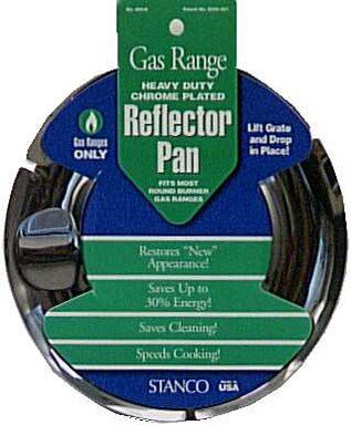(Stanco Range Reflector Pan Gas Chrome Plated Steel, Porcelain 7 In.)