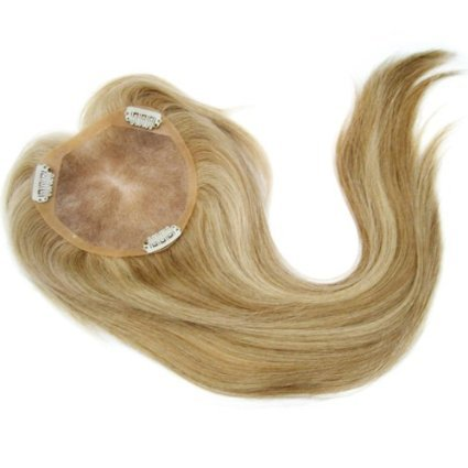 Uniwigs Remy Human Hair Mono Hair Topper, Closure, Hair Topper Coconut Cream Color, Straight for Hair Loss by uniwigs