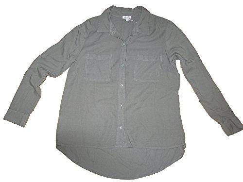 Splendid Hilo LS Shirt Womens Size X-Small Dark Grey