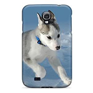 Galaxy S4 Hard Back With Bumper Silicone Gel Tpu Case Cover Puppy