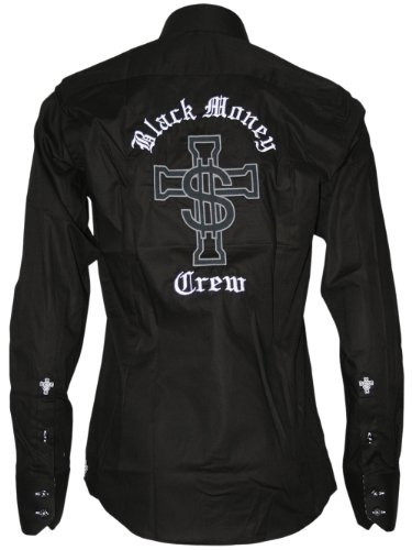 BLACK MONEY CREW Designer Herren Hemd - BMC CROSS -