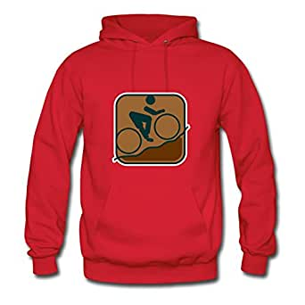 Cycling Mountain Biking Print Customized : X-large Womenhoody Red- Made In Good Quality.