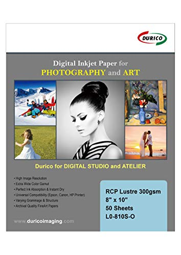 - RCP Pearl Lustre 300gsm Digital Inkjet Paper for Photography and Art (8-x-10)