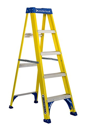 Louisville Ladder FS2005 Fiberglass Step Ladder, 5-Feet/250lb, Yellow