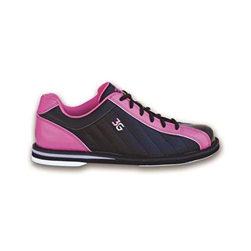 3G Women's Kicks Bowling Shoes (8 M US, Black/Pink) by 3G Bowling