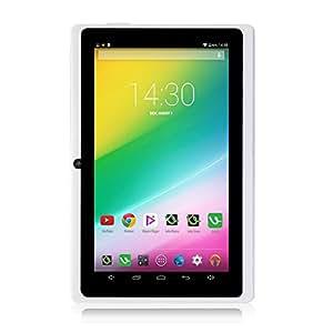 """iRULU X1S - Tablet de 7"""", Quad Core, 8GB Nand Flash, Resolución HD de 1024x600, Google Android 4.4, Certificación GMS de Google, Color Blanco"""