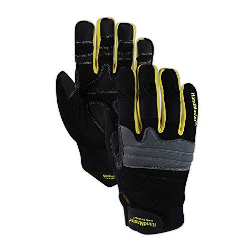 (Magid Glove & Safety MECH103L Magid Hand Master MECH103 Mechanics Gloves with Gel Palm Padding, Black, Large (1 Pair))