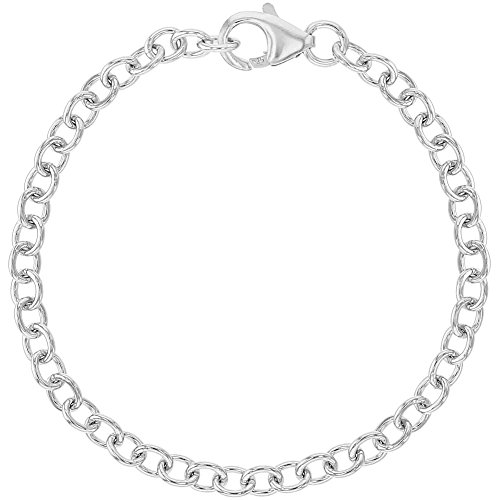 925 Sterling Silver Charm Bracelet for Girls Kids -