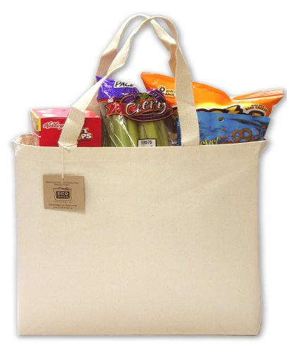 (Eco-Bags Products Recycled Cotton Tote, Natural)