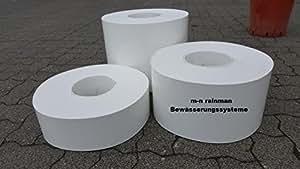 Borde del césped / Envolvente remolacha BLANCO - Dureza: 1 mm - Altura: 12 cm - CALIDAD PROFESIONAL - blanco, 25 Meter