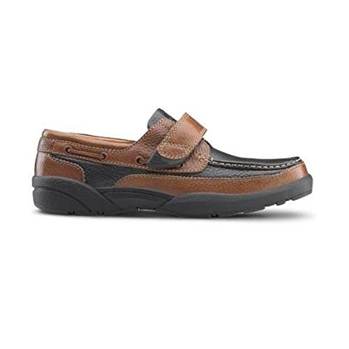 Velcro Style Closure - Dr. Comfort Mike Mens Boating Shoe Multi Wide Size 10