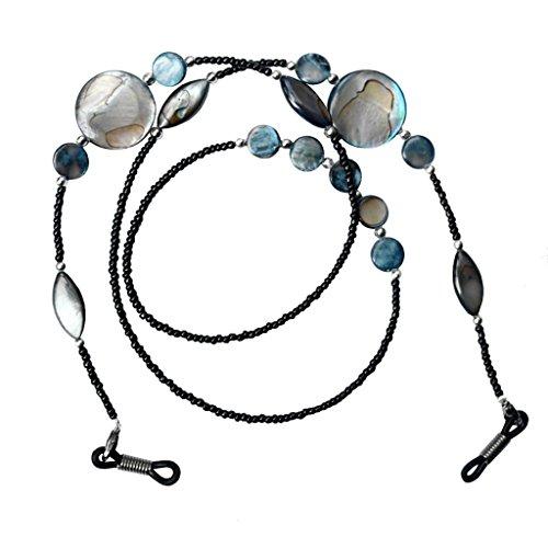 MagiDeal 2pcs Chaîne à Lunettes en Perles de Coquille Support de Lunettes pour Sport Lecture Unisexe
