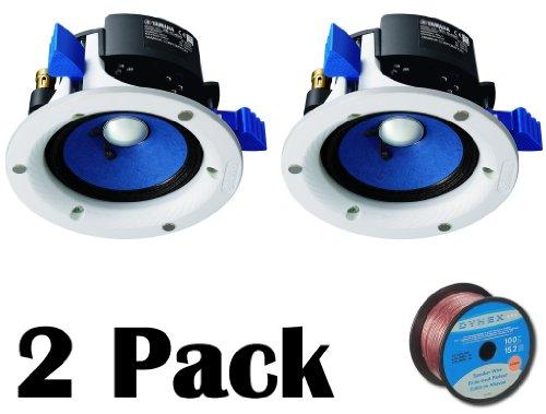 Yamaha Custom Easy-to-install In-Ceiling Full Range Open Back 90 watts Mini Speaker Set (Pair of 2) with a 4