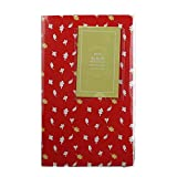 Photo Album for Instax Mini 84 Pockets Plastic Glue Free and Waterproof Album Cute Pattern Family Album for Polaroid 3'' Photograph (Red)