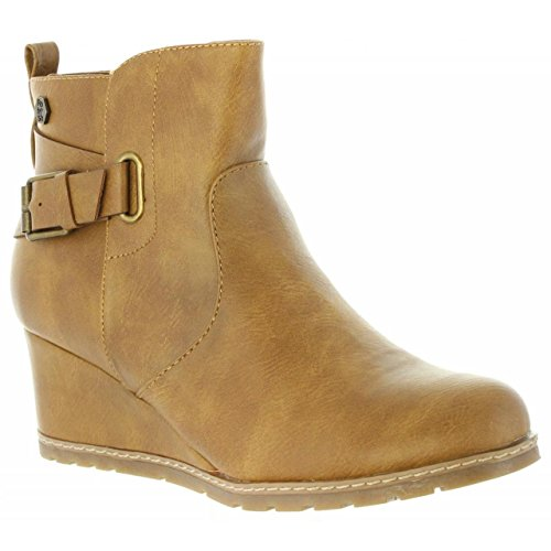 Refresh 63877 Camel Bottines C Pour Femme 7wq7rv