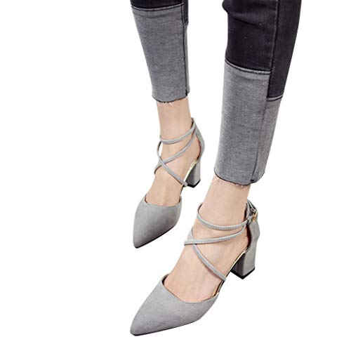 - Clearance Sandals Womens Pointed Toe Square Heel Wedding Shoes High Heel