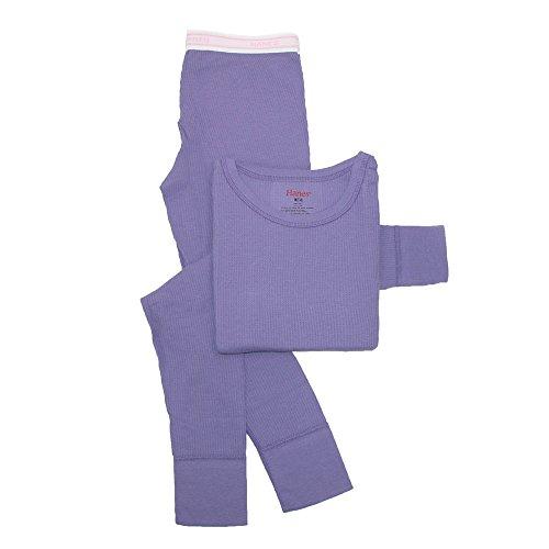 Thermal Underwear Set, Purple,  X-Small/4-5 (Little Girls Long Underwear)