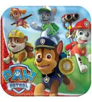 paw patrol luncheon plate
