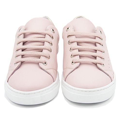 Deportivas de Cordones Rosa Clásicas Rosas con Piel Mujer en Zapatillas Barceló María qUx4wZEX