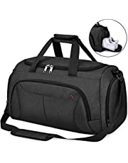 22c0a7f984e566 NUBILY Sports Gym Bag Duffel Bags with Shoes Compartment Waterproof Large  Training Sport Holdall Travel Overnight