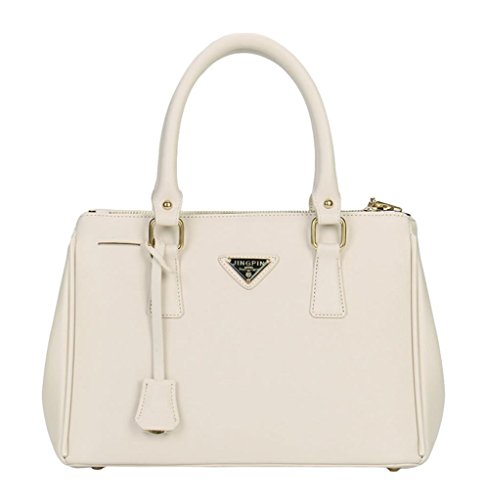 Ymb Women's Fashion Formal Dress Handbag Totes In Faux Leather Off White