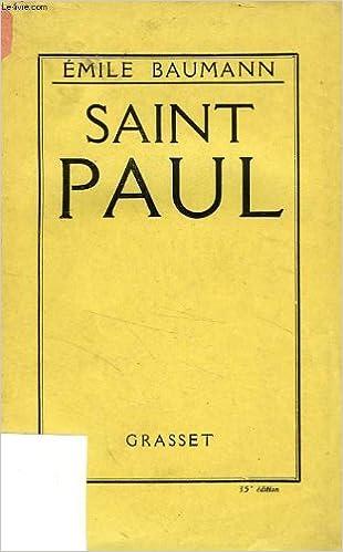 En ligne téléchargement Saint paul. pdf epub