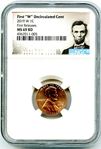 (2019 W US MINT Lincoln Union Shield UNCIRCULATED FIRST RELEASES Penny Cent MS69 RD NGC )