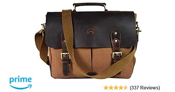 Messenger Bag for Men and Women | Shoulder Bag with Multiple Compartments  Zippered Pockets School Bag