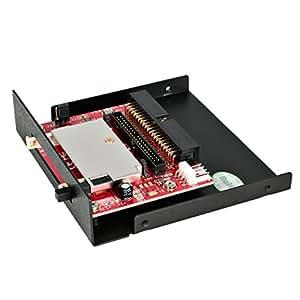 StarTech 35BAYCF2IDE Lector de Tarjetas de Memoria Compact Flash de Bahía de 3.5 Pulgadas, Adaptador de CF a IDE