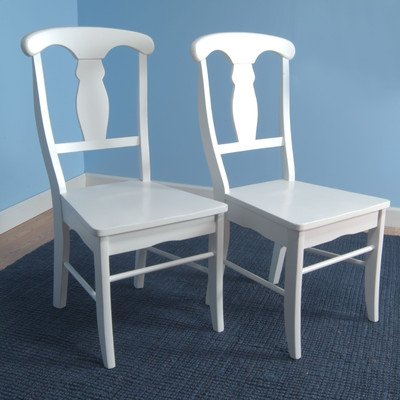 Target Marketing Systems Set of 2 Empire Wooden Dining Chairs, White by Target Marketing Systems