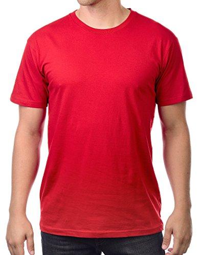 Circular Ultra Soft Cotton Unisex Blank T-Shirt [Red/S]