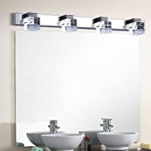 Nexium® 12w Fashion Led Bathroom Crystal Lights Wall LED Lamps Cabinet Mirror Lighting with Bubble Crystal Design (Cool white)