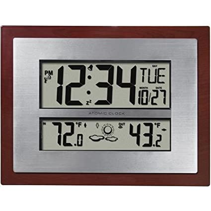 Better Homes And Gardens Atomic Clock With Forecast By Better Homes U0026  Gardens (Square Edges