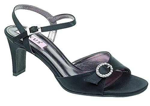 Traje de neopreno para mujer alianza de tobillo con cinta ajustable con brillantes de cierre magnético. negro - negro