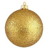 Vickerman 6'' Antique Gold Sequin Ball Ornament 4 per Box